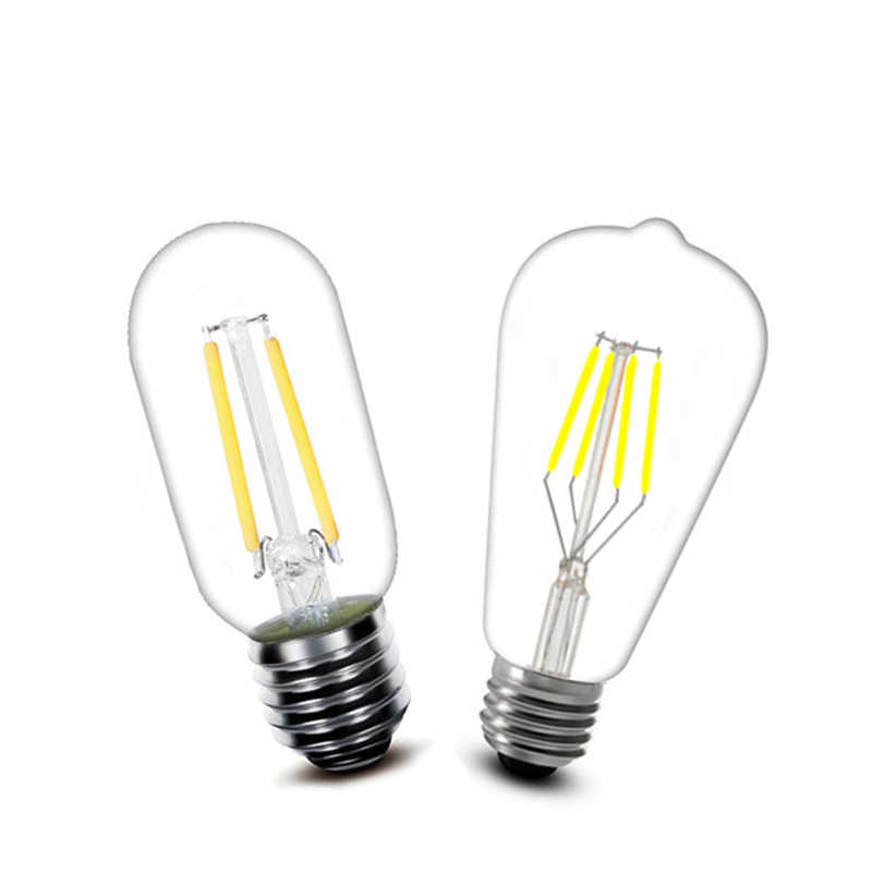 LED lamp E27 ST64 T45 220V vintage filament light bulb 2w 4w 6w 8w decorative for home bulb