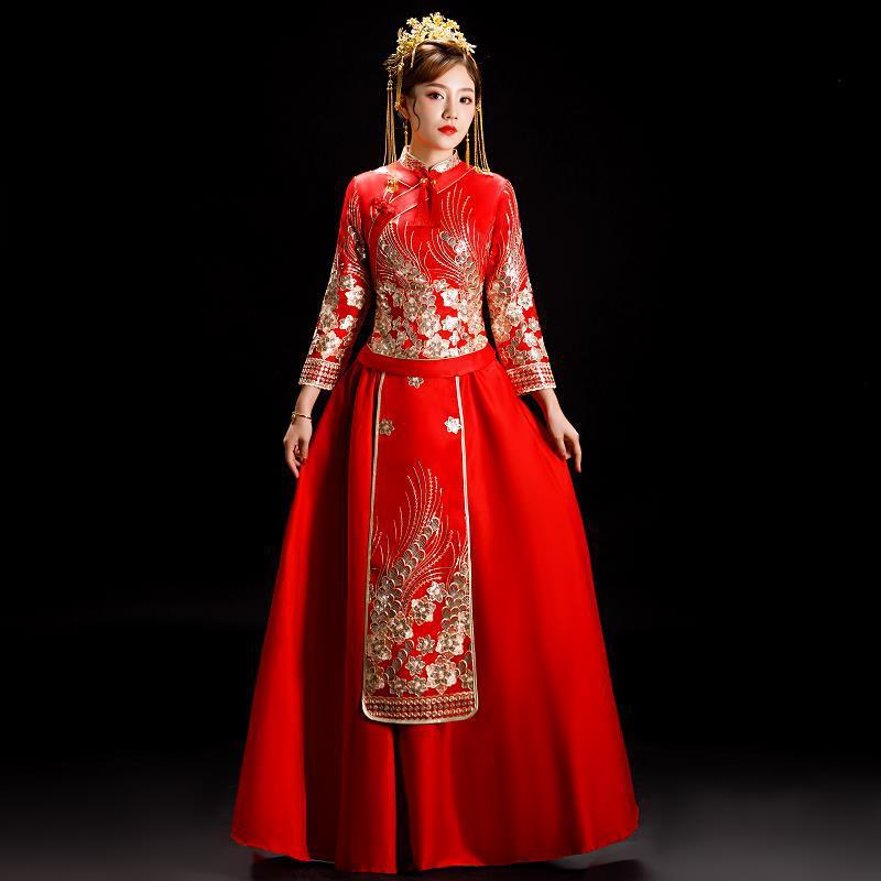 Vestido De Festa Hot Sale Scoop Get Married The New 2020 Wedding Toast Under Chinese Style Kimono Clothes Show Female In Autumn