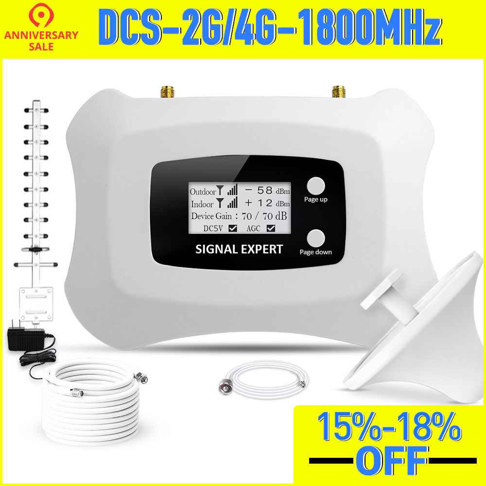 2020 New Fashion Signal Repeater 2G DCS1800MHz Mobile Signal Booster 4g Cellular Signal Amplifier Yagi + Ceiling Antenna Kit