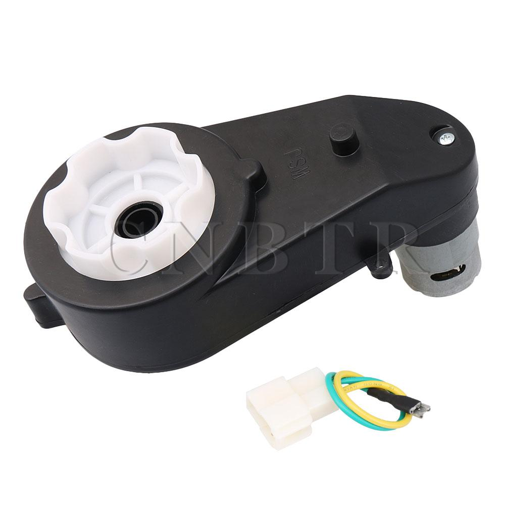 CNBTR 12V 12000RPM Getriebe mit Motor für Kinder Angetrieben Fahrt auf Autos und Motorräder RS550 Stick Motor Spiel auf Spielzeug