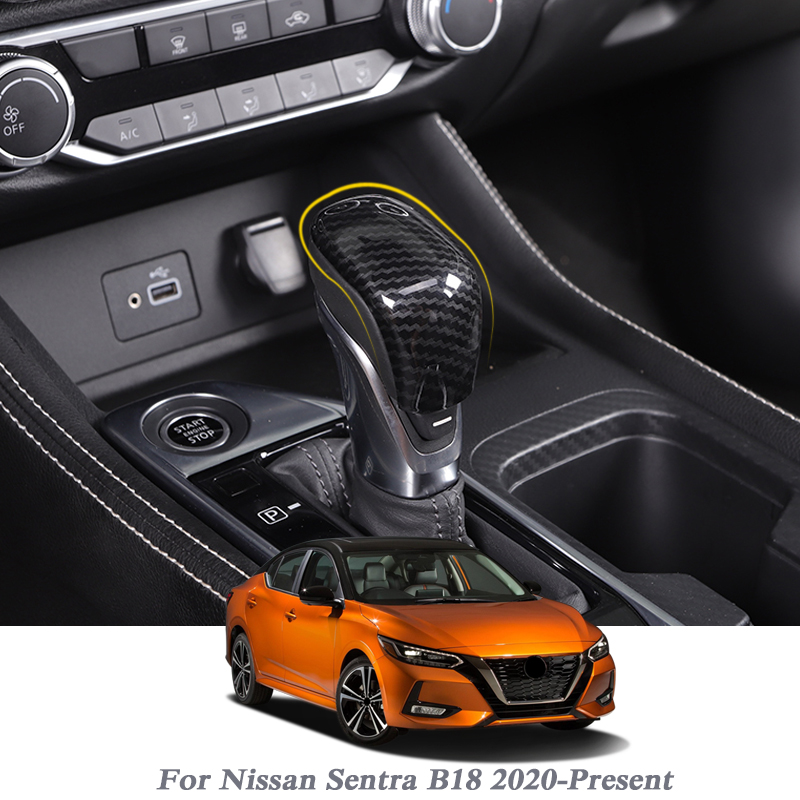 Car Handbrake Covers Sleeve ABS Cover Anti-slip Parking Hand Brake Grips Sleeve For Nissan Sentra B18 2020-Present Accessories