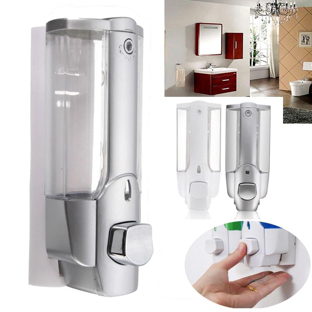 Wall Mounted Shampoo Soap Dispenser Sanitizer Bathroom Shower Liquid Lotion Pump TN99
