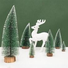 Christmas Tree arbol de navidad New Years Mini Small Pine adornos Desktop Decor E