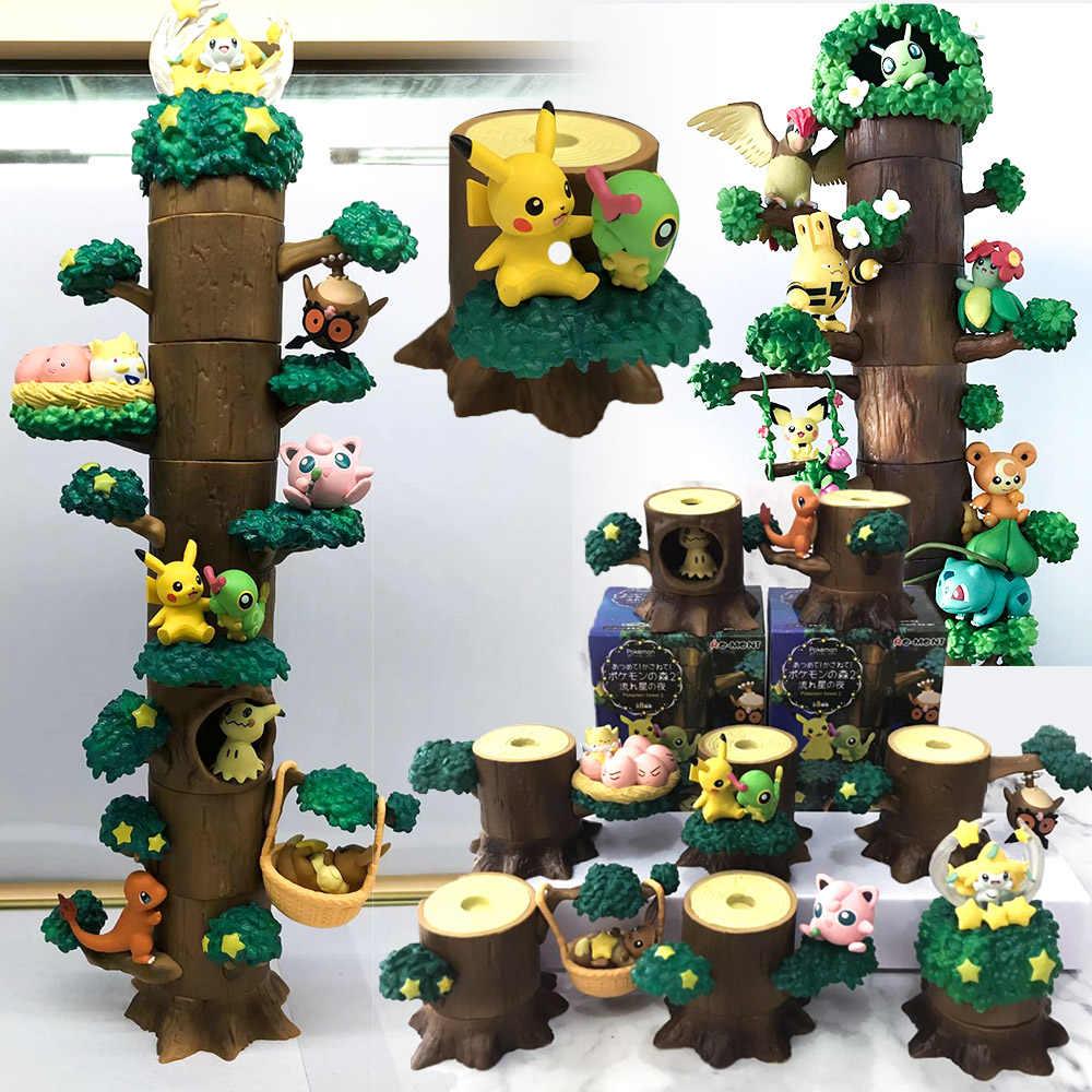 タカラトミー 8 ピース/セットポケットモンスターポケモン木の人形イーブイカビゴンキッズギフトモデルおもちゃピカチュウアクションフィギュア