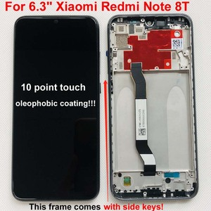 Image 2 - 100% 새 원본 + 프레임 6.3 xiaomi Redmi 참고 8T LCD 디스플레이 화면 교체 LCD 터치 스크린 디지타이저 10 터치