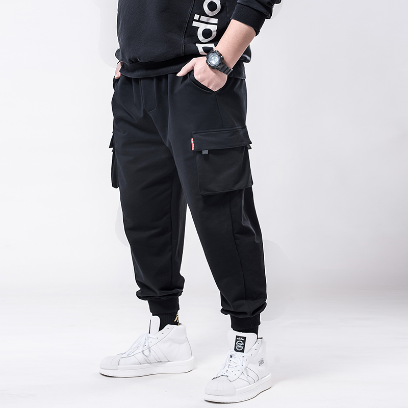 Organ-Bag Casual-Pants Harem Stretch High-Waist Plus-Size with Print Men's New-Arrival
