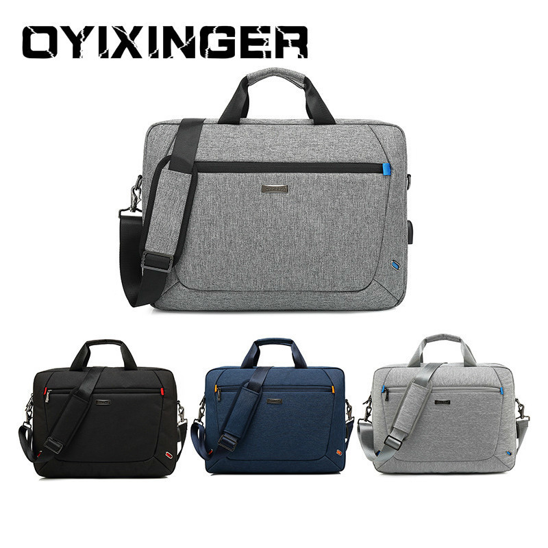 High Capacity Notebook Men Office Briefcase Waterproof Laptop Shoulder Bag Casual Handbag Crossbody Messenger Bags Anti-Theft