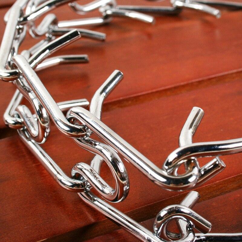Dog Necklace Training Dog Chain Pet Supplies Necklet Stimulate Metal Detachable Neck Strap