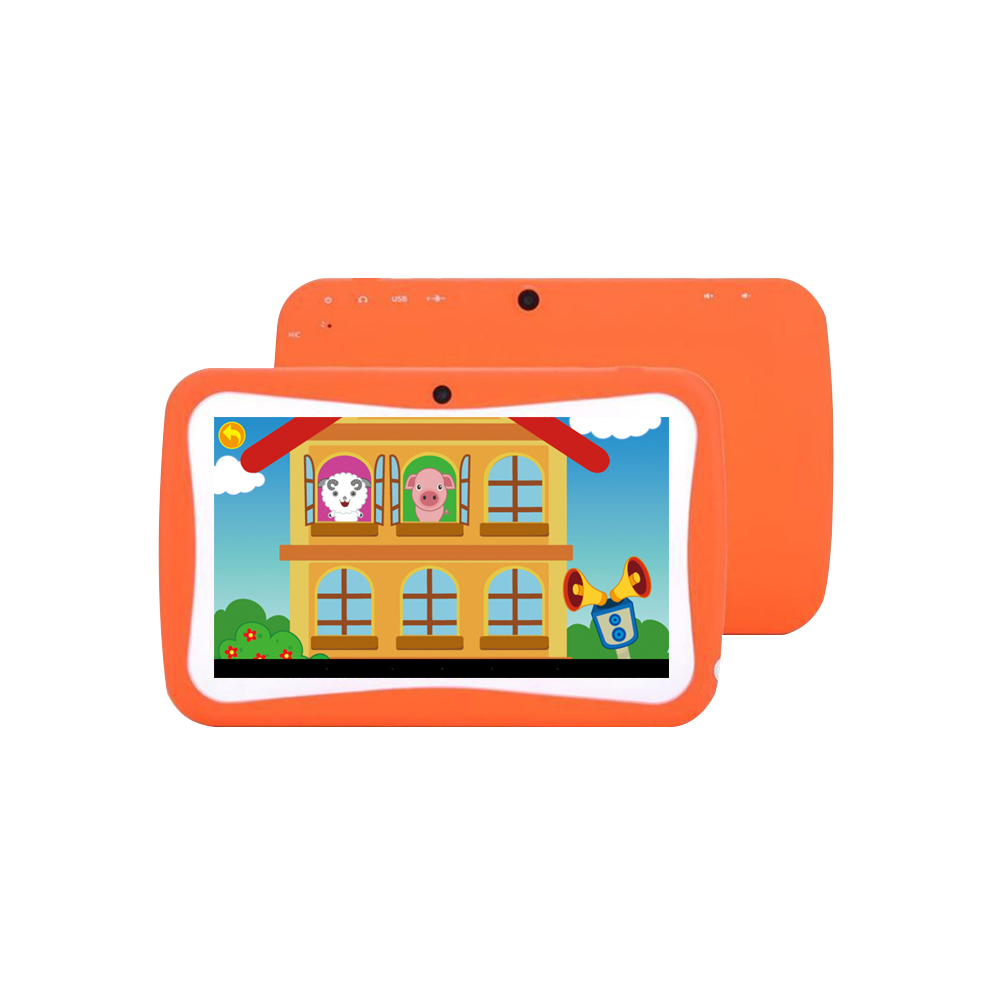 Q728 Quad Core Tablet 7inch Tablets PC WIFI Educational Learning Computer For Children Kids Android 4.4 With Silicone Case