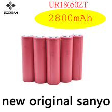 GZSM 18650 battery for Sanyo UR18650ZT 2800mAh 3.7V 6A rechargeable For flashlight
