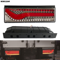 2X LED Tail Lights Lamp Brake Stop Turn Sequential Flowing Signal Warning Light For Volvo Mitsubishi UD hino lorry Truck Trailer