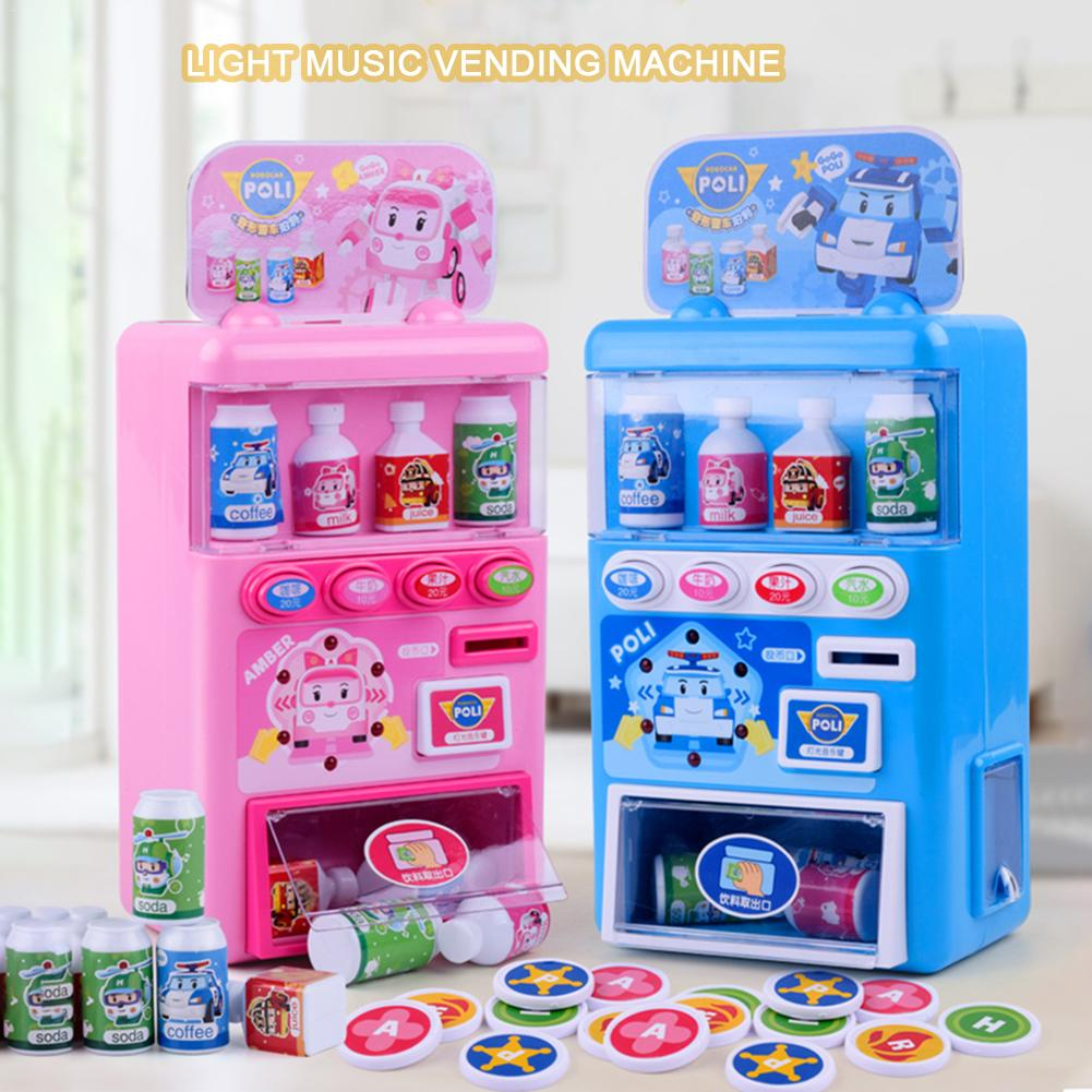 Children's Simulated Vending Machine Puzzle Drinks Vending Machine Toy Pretend Toy Set For Kids