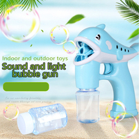 Children's Toy Dolphin Bubble Machine Automatic Cartoon Music Light Summer Fun Outdoor Bubble Toy