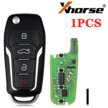 XHORSE Super Remote Key for Ford Style Flip 4 Buttons Built-in Super Chip XEFO01EN English Version 1PCS
