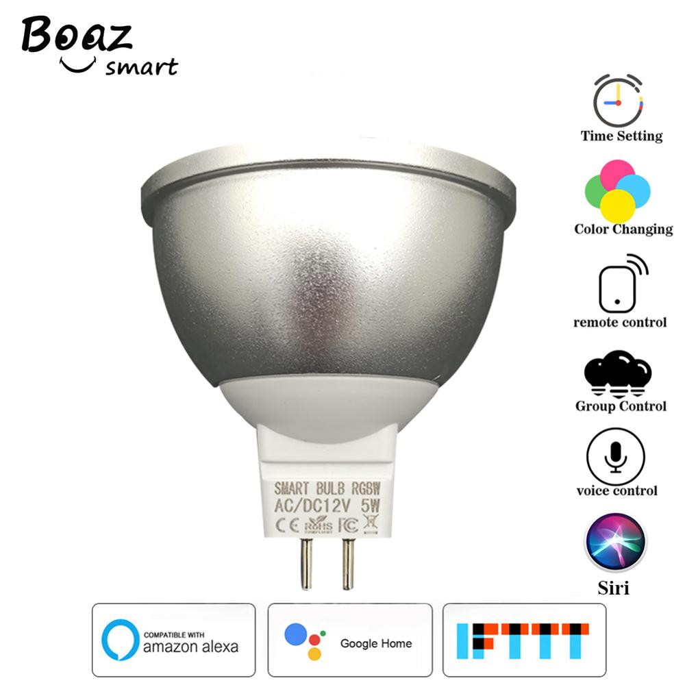 Smart light bulb MR16 5W Led WIFI Bulb RGBCW Dimmable LED Spotlight Works with Amazon Alexa IFTTT Google home Tuya Smart Life image
