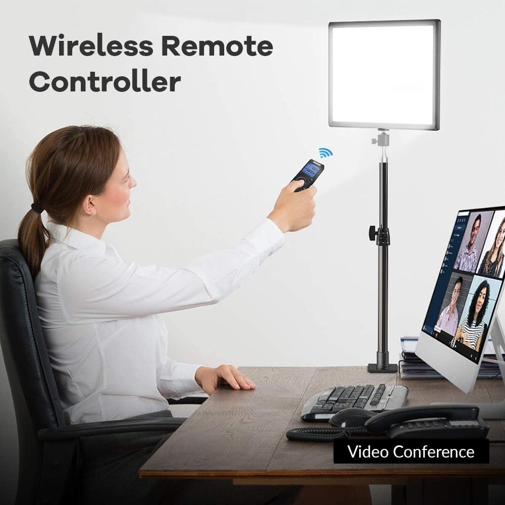 H2df3db1d4f7a494490e60fa6f2b401905 14inch 10inch LED Video Lighting Panel EU Plug 3200K-6000K Photography Lighting Remote Control For Live Stream Photo Studio Lamp