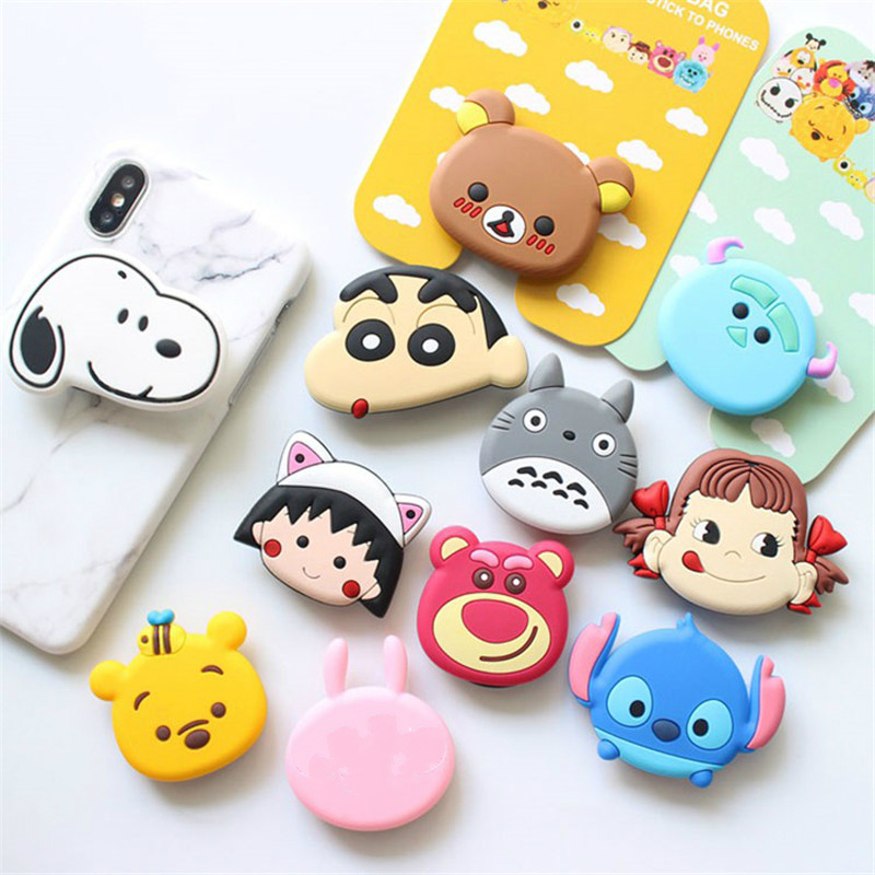 Popular Mobile Phone Lazy Bracket Painted cartoon Airbag phone bracket mobile airbag for iphone stand
