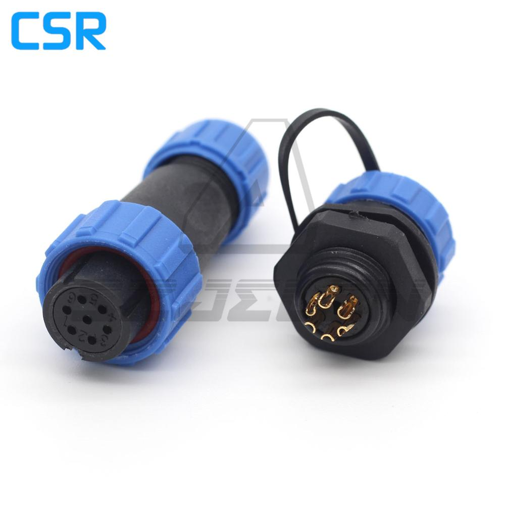 1Set SP13 3Pin Waterproof IP68 Cable Butt Circular Aviation Plug Connector
