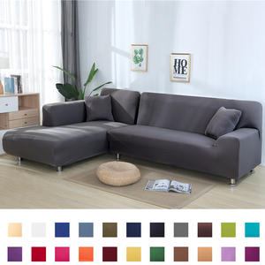 Solid Color Corner Sofa Covers for Living Room Elastic Couch Cover Stretch Sofa Towel L Shape Sofa Need Buy 2pcs Slipcovers