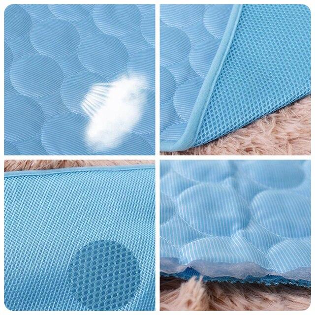 Summer Dog Cooling Mat Sky Blue Ice Pad Cool Pet Beds Sofa Cushion 5