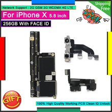 For IPhone X 256GB with Face ID Unlocked Motherboard Good Mainboard Free iCloud Original Logic Board Working Face Function
