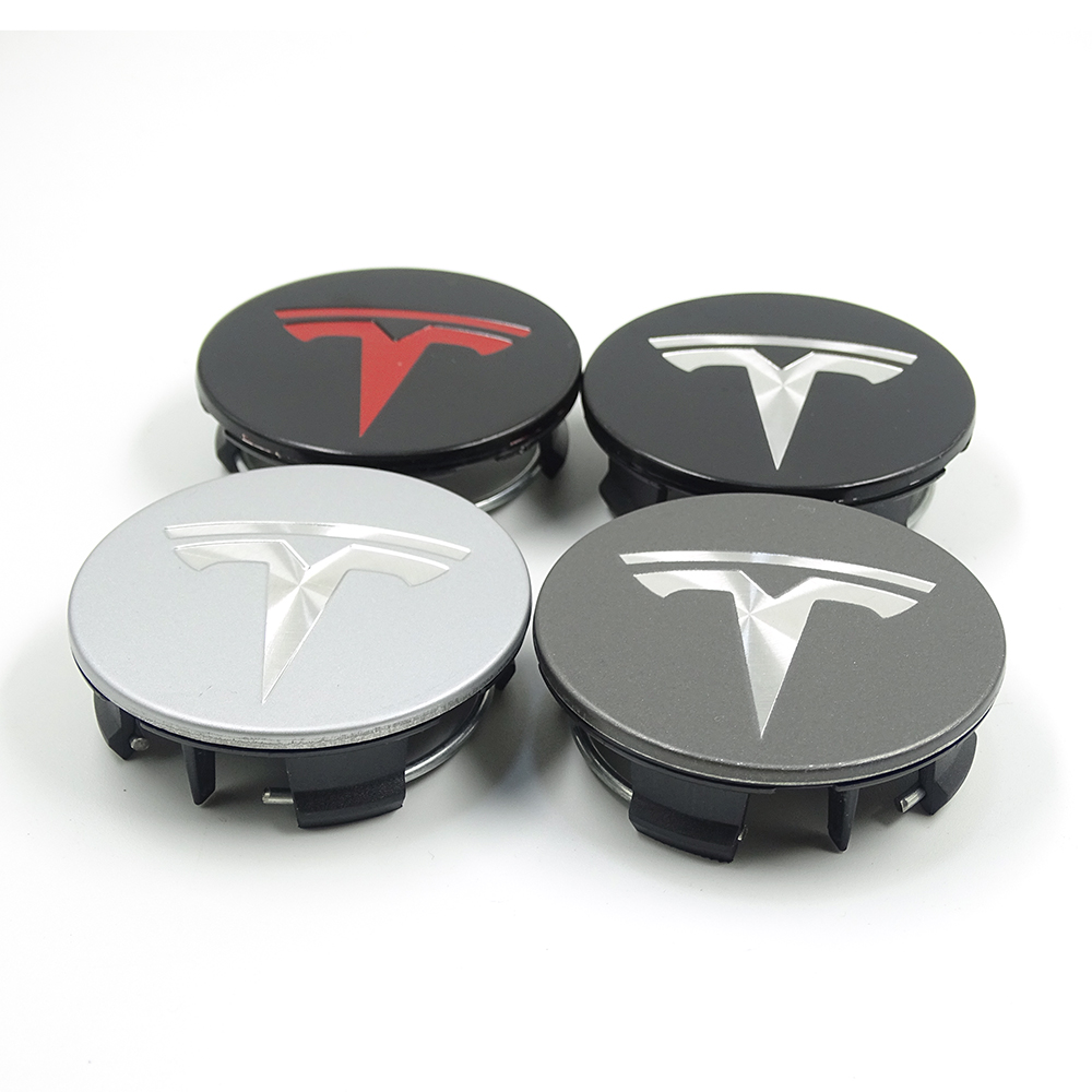 For TESLA MODEL X S 3 Car Styling XWC1385-01 Auto Accessories 58MM Badge Wheel Center Cap Cover Emblem
