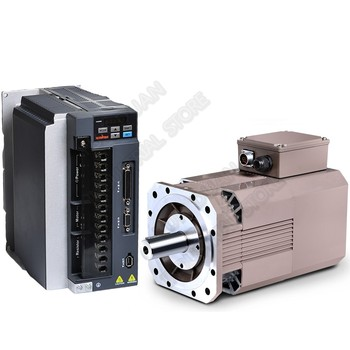 High Speed 8000rpm Servo Spindle Motor Drive Kits 2.2kw 3HP 13.8Nm 2000Oz-in 380V AC 178mm 3PH Constant Power for CNC Lathe