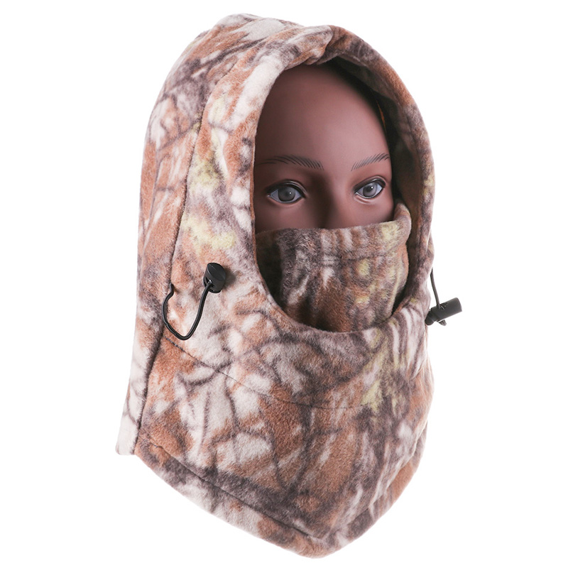 1Pc Wind-proof Mask Cap Winter Face And Neck Warmers Fleece Camouflage Cap Balaclava Trekking Riding Ski Hunting Thermal Hat Hot