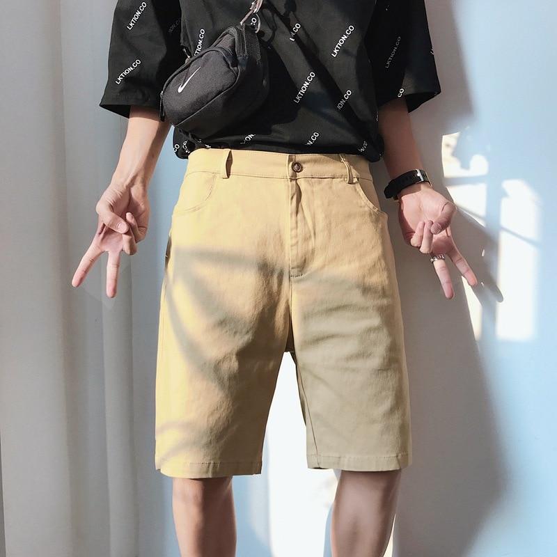 Bib Overall Men's Popular Brand Loose-Fit Multi-pockets Pants Casual Students Shorts Men Solid Color Summer Straight-Leg Shorts
