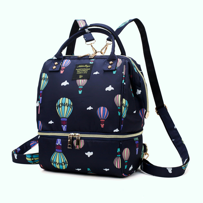 H2df4663a1aa14a5fad2122d721d61406O Diaper Bag Backpack For Moms Waterproof Large Capacity Stroller Diaper Organizer Unicorn Maternity Bags Nappy Changing Baby Bag