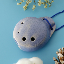 6 Holes Ceramic Ocarina C Key Musical Instrument For Music Lovers Gift