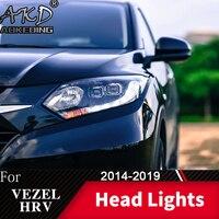 Head Lamp For Car honda HRV 2014 2019 Vezel Headlights Fog Lights Day Running Light DRL H7 LED Bi Xenon Bulb Car Accessory