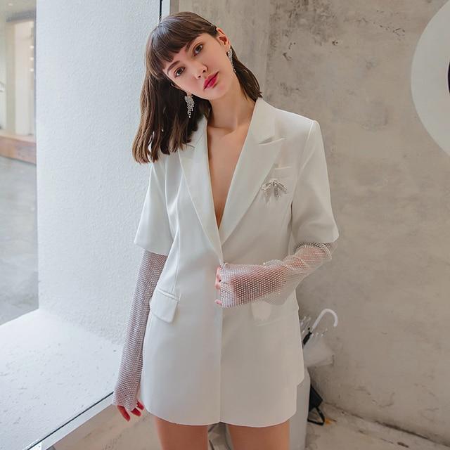 Фото модное женское белое пальто yigelila элегантное шикарное верхняя