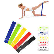Yoga Resistance Rubbe Bands Set Exercise Elastic Workout Ruber Loop Strength Pilates Fitness Equipment Training Expander