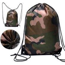 Новинка камуфляж водонепроницаемый шнурок тренажерный зал спорт фитнес сумка складной рюкзак походы кемпинг сумка пляж плавание сумка