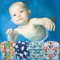 Детские подгузники Ohbabyka, регулируемые летние штаны для плавания в стиле унисекс, с фламинго, для детей ясельного возраста