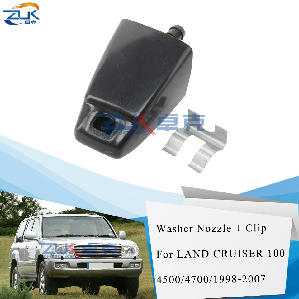 ZUK Headlight Washer Nozzle With Clip Fastener For <font><b>TOYOTA</b></font> <font><b>LAND</b></font> <font><b>CRUISER</b></font> <font><b>100</b></font> 1998 1999 <font><b>2000</b></font> 2001 2002 2003 2004 2005 2006 2007 image