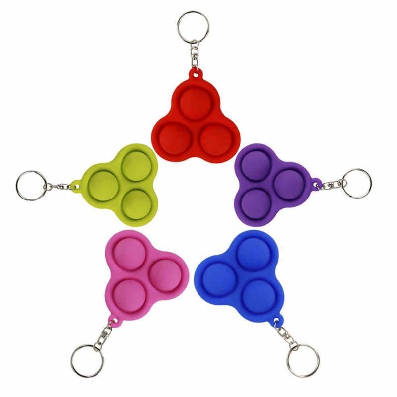Fidget-Sensory-Toys Keychain Dimple-Toys It Fidget Gifts Anti-Stress-Pop Push Bubble img2