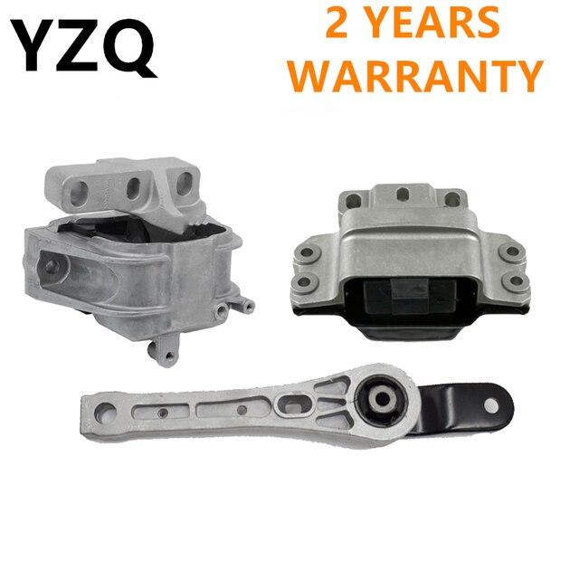 3PCS Engine Support &Gearbox Motor Mount Mounting Set For Audi A3 S3 VW Golf Jetta Touran Skoda 1K0199262M 1K0199262 1K0199555N 1