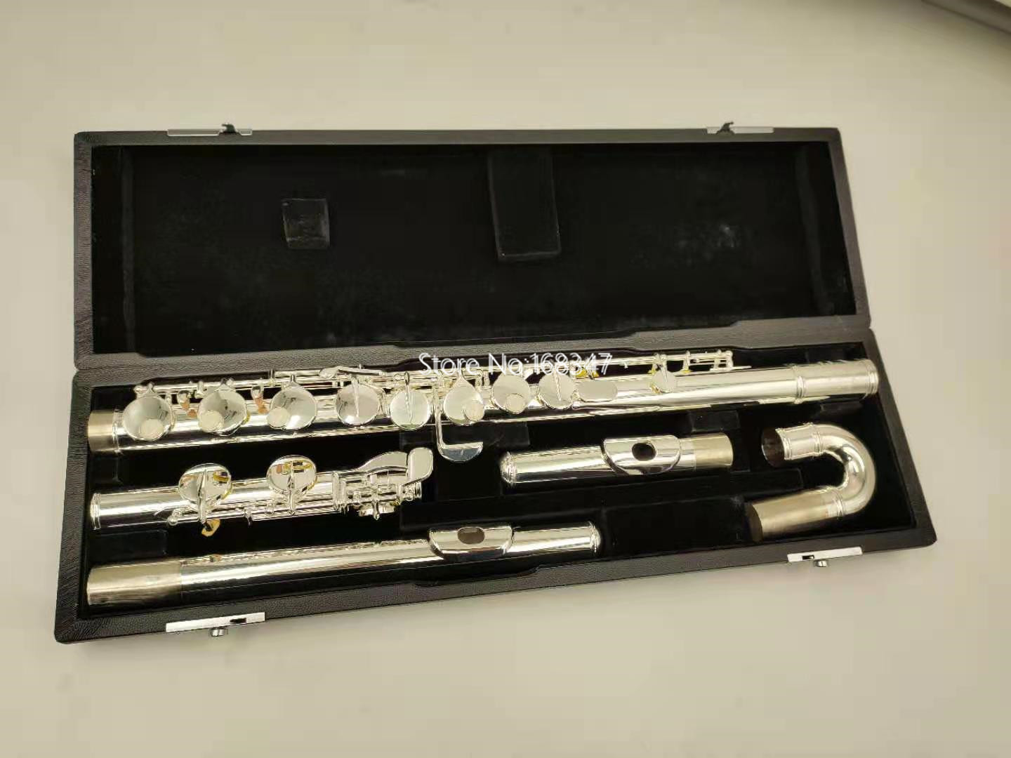 Hot Selling Muramatsu  Alto Flute G Tune 16 Closed Hole Keys Sliver Plated Musical Instrument with case free shipping