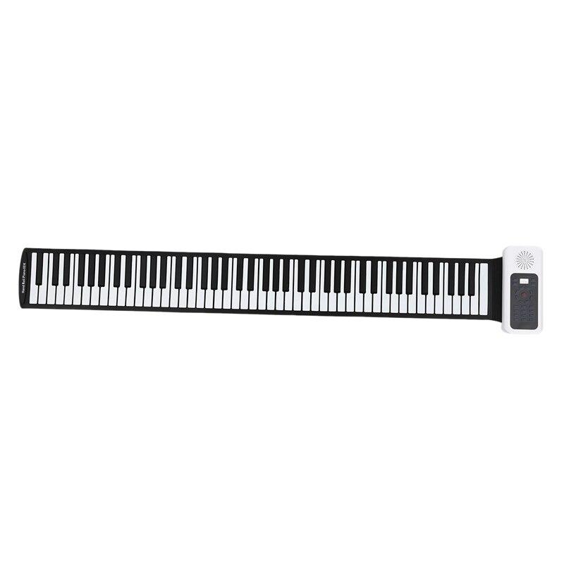 Модернизированное 88 клавиш универсальное гибкое рулон мягкий фортепиано с электронной клавиатурой для гитарных плееров - 3