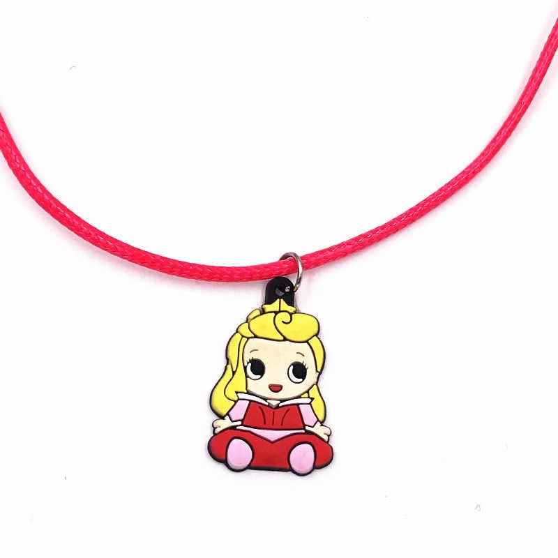 1 шт., подвеска принцессы Золушки из мультфильма, ювелирные украшения на нитке цепочке, ожерелье для маленьких девочек, вечерние платья, подарок на день рождения, косплей