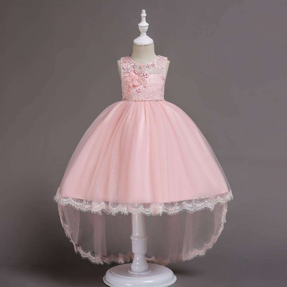 Girls Princess Dress Flower Boys/Flower Girls Lace Tailing Dress Children Performance Dress