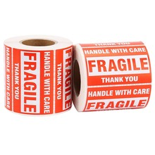 1 Roll/500Pcs Fragile Warning Sticker Handle With Care Keep Dry Express Label парогенератор tefal gv9563 pro express ultimate care