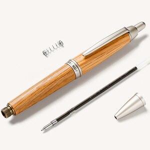 Image 3 - ワンピース日本ユニ純粋な麦芽ボールペン0.7ミリメートルオーク材天然またはダークブラウン色SS 1015