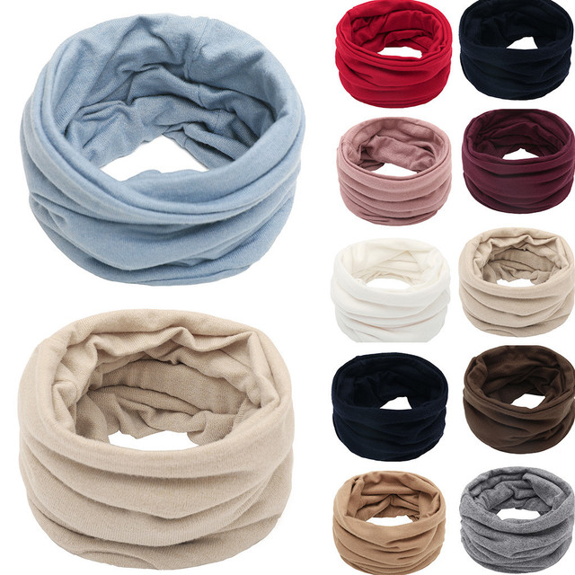 Sleeper #P501 2019 FASHION Unisex Solid Color Neck Warmer Fleece Knitted Scarf Scarves for boy girls Shawl Cowl шарф winter 2
