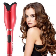 Mini LED Digital Curling Iron Automatic Hair Curler with Tourmaline Ceramic Heater  Portable Air Wand