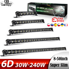 CO LIGHT 6D 30W 60W 90W 120W 150W 180W 210W 240W Barra de luz LED de obra Offroad Led faros de trabajo 12V 24V Led Bar para Niva 4X4 ATV SUV(China)
