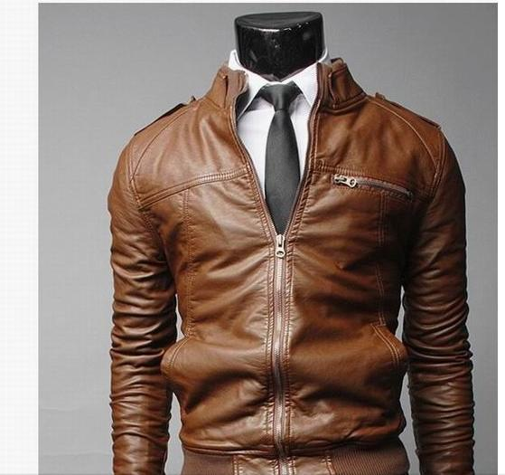 MEN'S WEAR Men Locomotive Leather Coat 2016 Autumn And Winter New Style Leather Coat Korean-style Slim Fit MEN'S Leather Jackets