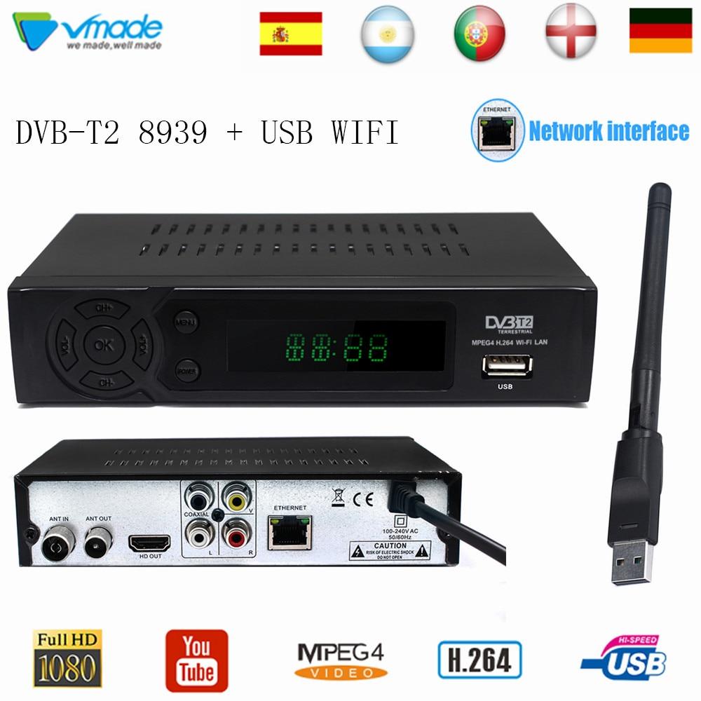 Decodificador Digital Terrestre Audio MPEG4/DVB-T2/Resoluci/ón HD receptor HDMI USB